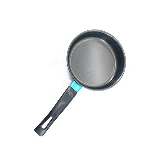IUYJVR Sartén 14/16 / 18cm Mini sartén Antiadherente de Base Plana para Galletas de Huevo para Cocina (Tamaño de Hoja: L 18cm)