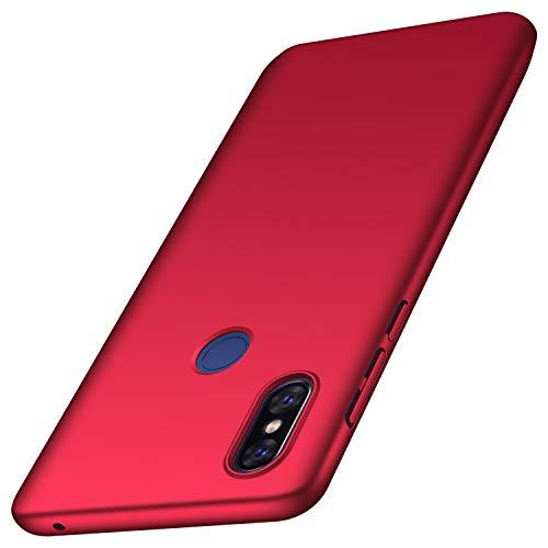 anccer Funda Xiaomi Mi Mix 3 [Serie Colorida] [Ultra-Delgado] [Ligera] Anti-rasguños Estuche para Carcasa Mi Mix 3 (Rojo Liso)
