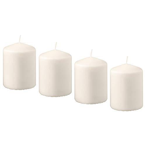 IKEA(イケア) HEMSJ? 00176117 香りなしブロックキャンドル, ナチュラル