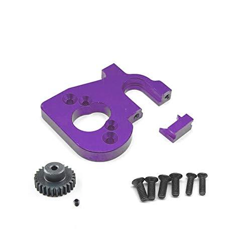ZBSM Soporte de Montaje de Motor de Coche RC con Engranaje de Motor para 144001 124019 124018 Accesorios de ActualizacióN de Piezas de Repuesto RC, PúRpura
