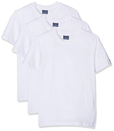 Navigare Herren T-Shirt 513, 3er Pack, Weiß, XXX-Large (Hersteller Größen:8)