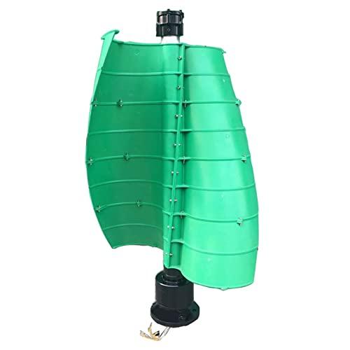 GTFHUH Generador de turbina de Viento, turbina de Viento Vertical portátil Verde de 12V/24V, generador de turbina de energía eólica de Hoja helicoidal para Acampar en casa