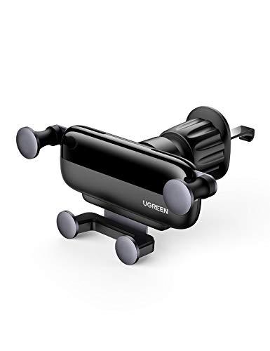 UGREEN Handyhalterung Auto Lüftung Schwerkraft KFZ Handy Halterung Autohalterung Automatisch 360 Drehbar Handyhalter fürs Auto kompatibel mit iPhone 12 Pro Max 11 XR, Galaxy S21 S20 A20 Huawei Xiaomi