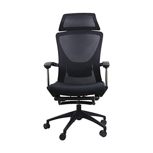 XIONGSHI Sillas de Oficina ergonómicas, sillas de Oficina de Malla con Respaldo Alto, sillas de Trabajo Ajustables en Altura, Cojines duraderos y sillas de Tela para computadora para Oficina en casa