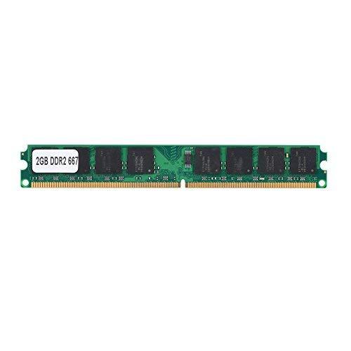 Oumij 2GB DDR2 667MHz PC2-5300 Memoria para PC Intel/AMD Tarjeta de módulo de 240 Pines Chip Incorporado, Permite un Rendimiento Estable y una Alta Velocidad