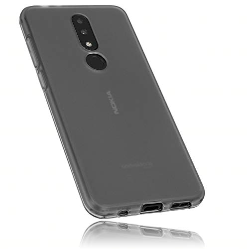 mumbi Hülle kompatibel mit Nokia 5.1 Plus Handy Hülle Handyhülle, transparent schwarz