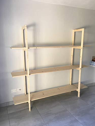Estantería en madera de abeto 180x40x180h