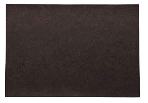 ASA Vegan Leather Set de Table en polyuréthane Noir café 46 x 33 cm