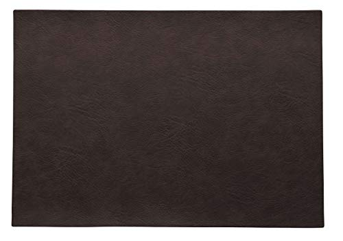 ASA Vegan Leather Tischset, Polyurethane, Black Coffee, 46 x 33 cm