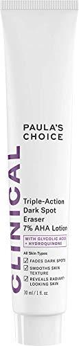 Paula's Choice CLINICAL Triple-Action Dark Spot Eraser 7% AHA Lotion, Glycolic Acid & Hydroquinone, Hyperpigmentation & Skin Lightening Cream, 1 Ounce