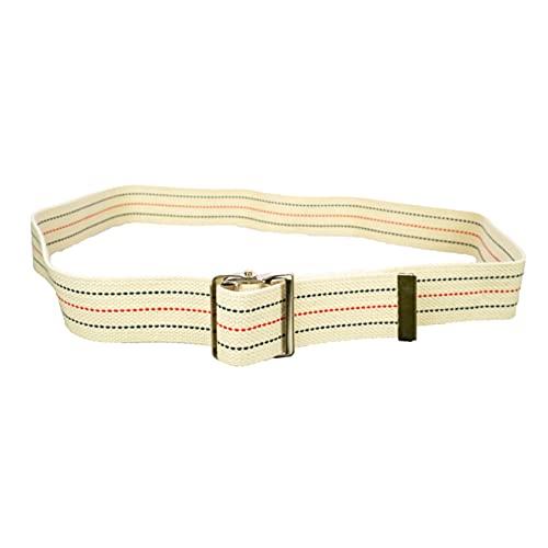 Sammons Preston-50618 Gait Belt with Metal Buckle, 2' Wide, 54' Long Heavy Duty Gait Transfer Belt, Essential Walking and Transport Assistant for Elderly, Disabled, & Medical Patients, Neutral Stripe