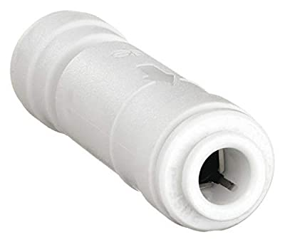 Check Valve, 1/4 In Tube OD, White by John Guest