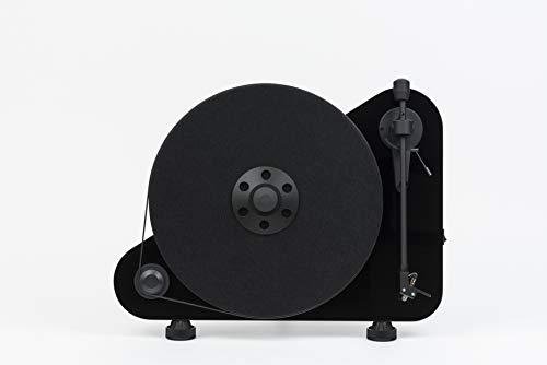 """Pro-Ject VT-E R BT, Vertikaler """"Plug & Play"""" Plattenspieler mit Bluetooth, Rechtshänder (Schwarz)"""
