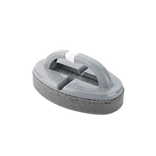 Multifunctionele spons borstel opvouwbare schoonmaakspons met handgreep, keuken, badkamer, reinigingsborstel voor ramen, badkuip, tegelvloer, familiereiniging gereedschap lichtgrijs