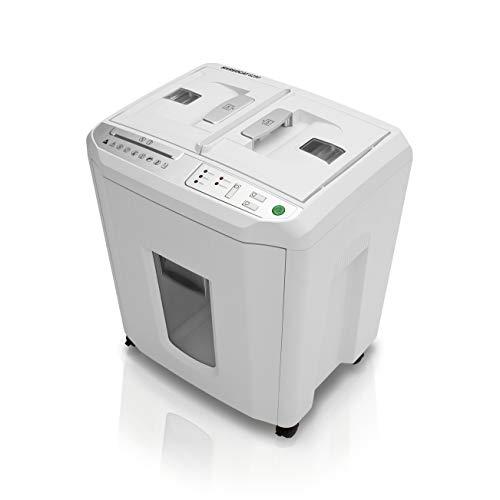 Shredcat 8280 Cross Cut Auto-Feed Aktenvernichter, 4 x 10 mm Partikelschnitt/Kreuzschnitt (bis 150 Blatt, Sicherheitsstufe P-4, DSGVO-konform, vernichtet auch Kreditkarten, Heftklammern, CDs und DVDs)