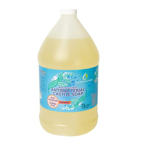L and L Antibacterial Pure Castile Soap Liquid Unscented for...