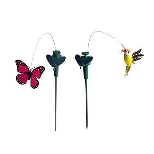 MagiDeal Tanzender Schmetterling Vogel Kolibri der Hingucker für Garten Balkon Deko