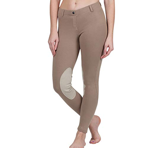 ELATION Riding Breeches for Women Red Label – Easy Pull-On Equestrian Riding Pants (Duff 26R)
