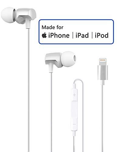 Lightning Kopfhörer mit Mikrofon, Audio Stereo Kopfhörer Langlebig für iPhone 7/7 Plus / 8/8 Plus/X/XS/XS Max