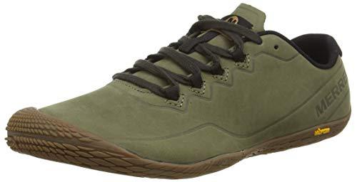 Merrell Herren Vapor Glove 3 Luna Leather Sneaker, Grün (Dusty Olive), 44.5 EU
