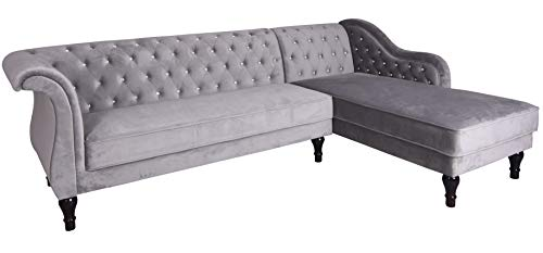 Ecksofa Samt Hollywood Sofa Couch Eckcouch Wohnlandschaft Dreisitzer Couchgarnitur fha036 Palazzo Exklusiv