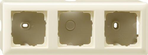 Gira 006301 Aufputz-Gehäuse mit Rahmen 3-fach Cremeweiß glänzend
