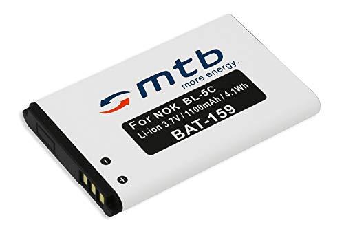 Ersatz-Akku BL-5C für Nokia 100, 1100, 1101. / Amplicom/DeTeWe/Hagenuk/MyPhone/Swissvoice. - s. Liste