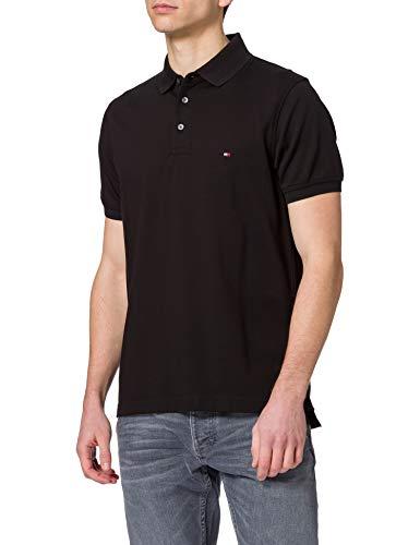Tommy Hilfiger 1985 Slim Polo, Camisa de polo Hombre, Negro, XL