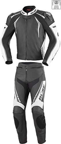 Büse Silverstone Pro 2-Teiler Damen Motorrad Lederkombi Schwarz/Weiß 44