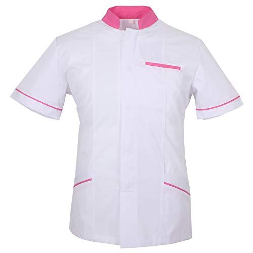 MISEMIYA - Casaca Camisa Camisetas Mujer Uniformes Laboratorios Uniformes Medicos Clinica Veterinarias - XL, Blanco, Camisa Laboratorio 701-2 Blanco