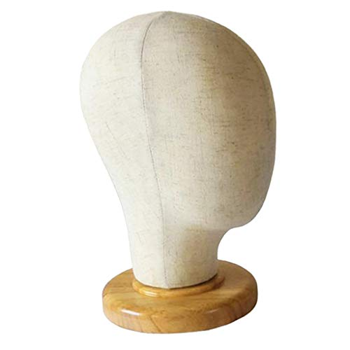 CUTICATE 12 Modelo de Cabeza de Maniquí de Lona Estante de Exhibición de Pelucas Exhibidor de Gorros para Tiendas Hogar - 02