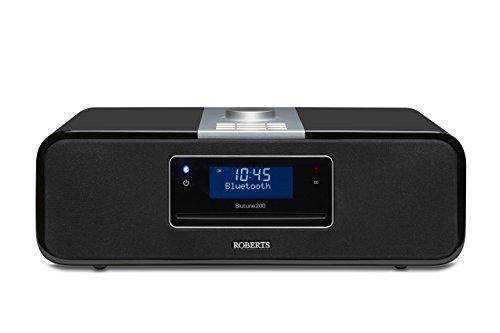 Roberts Radio BluTune 200 DAB+ Soundsystem mit Bluetooth, CD-Player, Aufnahmefunktion auf SD und USB schwarz