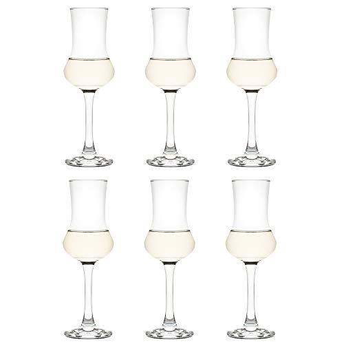 Libbey Bicchiere da grappaglas Nivah – 90 ml / 9 cl - 6 Pezzi - Bicchiere da liquore - Bicchiere da shot - Lavabile in lavastoviglie