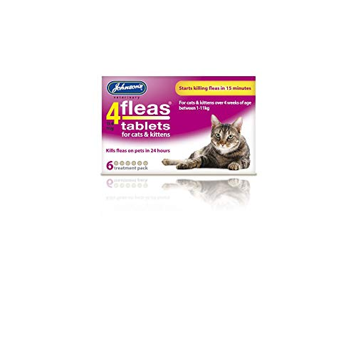 Johnsons 4Fleas Tablets for Cats and Kittens, 6 Treatment Pa
