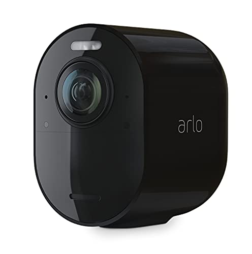 Arlo Ultra2 Wireless Home Security Camera System CCTV, 6-Month Battery Life, WiFi, Alarm, Colour Night Vision, Indoor or Outdoor, 4K UHD, 2-Way Audio, Spotlight, 180° View, Camera Only, VMC5040B