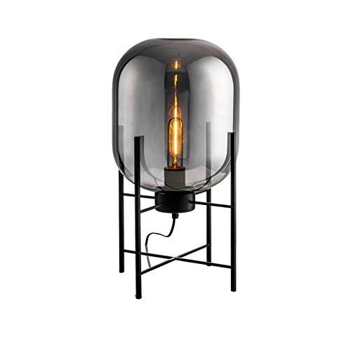 Lámparas de Pie Prime Industrial Bar Creative Lámpara de pie Lámpara de pie de hierro forjado Nordic Simple Sala de estar Dormitorio Estudio Mesita de noche Lámpara estándar LED Lámpara de Piso