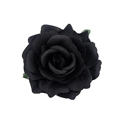 Broche para el pelo de las mujeres de la flor de la rosa horquilla nupcial de la boda del partido del broche de las mujeres de