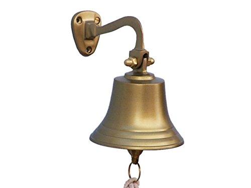 Hampton Nautical 3xglass-101 Antique Brass Hanging Ship's 6