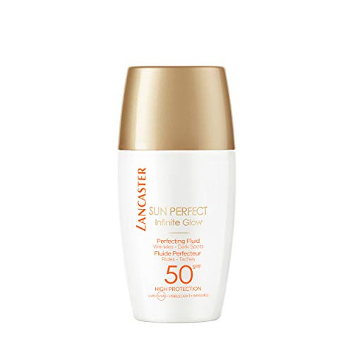 LANCASTER Sun Perfect Perfecting Fluid LSF 50 High Protection, getöntes Anti Aging Gesicht Sonnenschutz Fluid, 30 ml