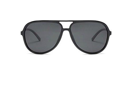 Polarized Aviator Sunglasses for Men Black TR90 Frame Ultralight Sunshades (Black, 65)