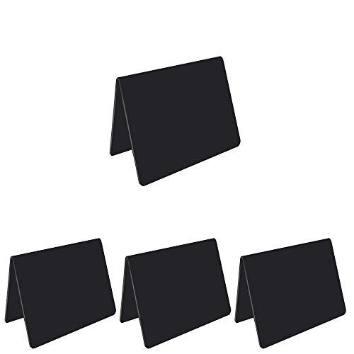 Mehrondo 4 unidades de pizarras de techo en tamaño 105 x 74 mm (A7), grosor: 2 mm, color: negro.