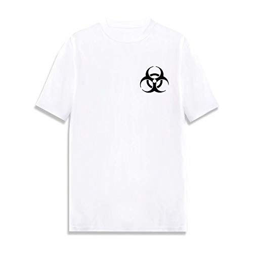 Dging Maglietta da Uomo a Manica Corta 2020 COVID-19, t Shirt Girocollo a Maglia asciutta Rapida, Top Sportiva Confortevole e Traspirante