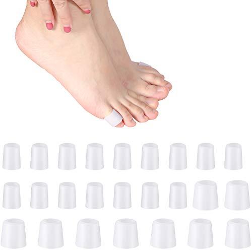 24 Stücke Gel Zehen Protektoren Klein Gel Zehen Ärmel für Kissen Mais, Blasen, Schwielen, Zehen und Finger, Verhindert Reiben, Druck (Kleine Gel Zehen Tube, 24 Stücke)