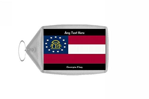 Gepersonaliseerde sleutelhanger met vlag van Georgië