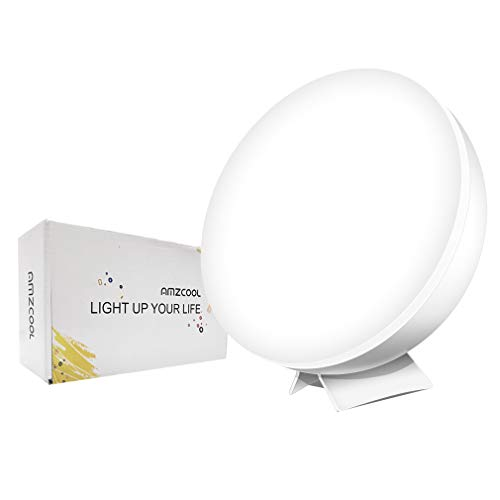 Happy Natural Light Therapy Lamp Simulated Sunlight Full Spectrum LED Lamp UV-Free 10000 Lux Bright Light Box Portable