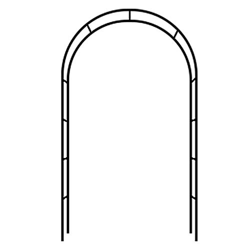 RuBao Self Assembly Garden Arch,1.4m Wide Black Garden Arch Archway Entrance,for Climbing Rose Plant Trellis,Easy Assembly Plant Flower Vegetable Support
