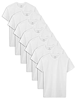 Fruit of the Loom Boys Cotton White T Shirt Ice M  7 Pack