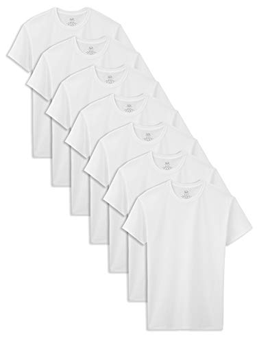 Fruit of the Loom Boys Cotton White T Shirt, Ice, M , 7 Pack