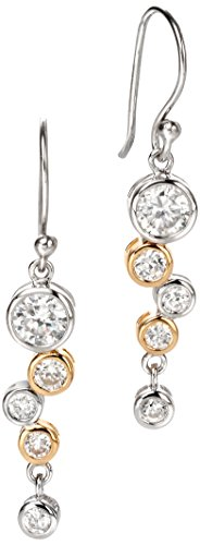Fiorelli Damen-Ohrhänger Silber Zirkonia vergoldet Wasserfall