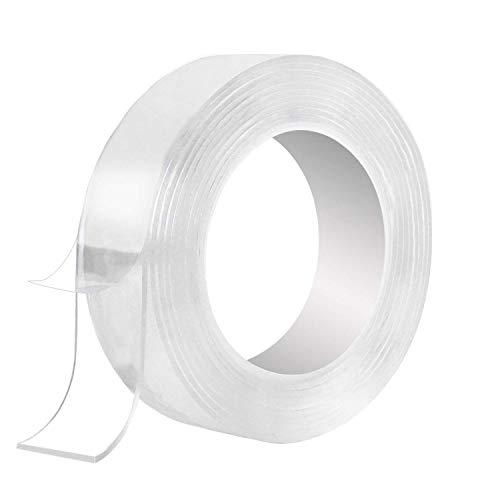 Multi-Functional Nano-Adhesive Residue-Free Transparent Super-Klebstoff Tape Roll, Klar Anti-Rutsch-Doppelseitig klebrige (3 M/9.85 FT)